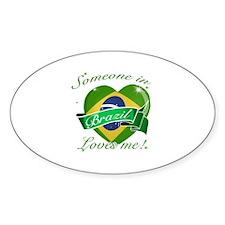 Brazil Flag Design Sticker (Oval)
