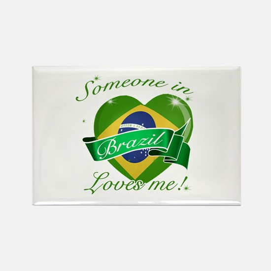 Brazil Flag Design Rectangle Magnet