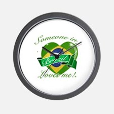 Brazil Flag Design Wall Clock