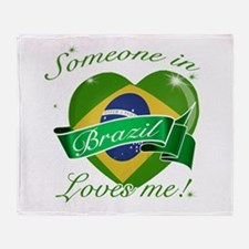 Brazil Flag Design Throw Blanket