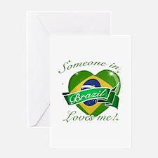 Brazil Flag Design Greeting Card