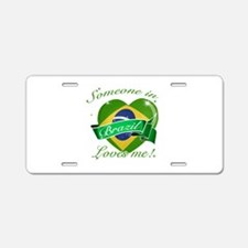 Brazil Flag Design Aluminum License Plate