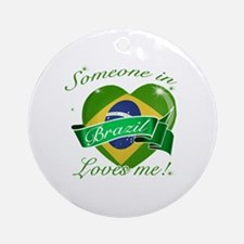 Brazil Flag Design Ornament (Round)