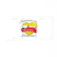 Brunei Flag Design Aluminum License Plate