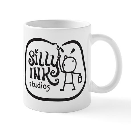 SillyInkSmallBWBorder Mugs