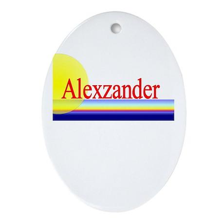 Alexzander Oval Ornament