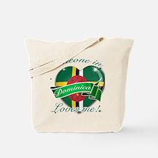 Dominica Flag Design Tote Bag