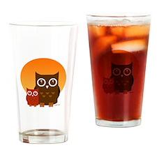 Cute Owls (5) Drinking Glass
