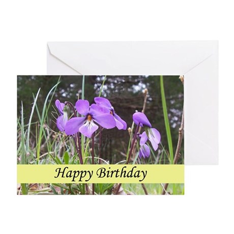 Wild Violets Greeting Card