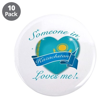"Kazachstan Flag Design 3.5"" Button (10 pack)"