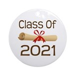 2021 School Class Diploma Ornament (Round)