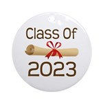 2023 School Class Diploma Ornament (Round)