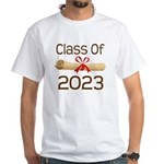 2023 School Class Diploma White T-Shirt