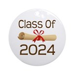 2024 School Class Diploma Ornament (Round)