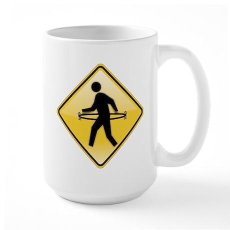 Pedestrian Hula-Hoop Large Mug