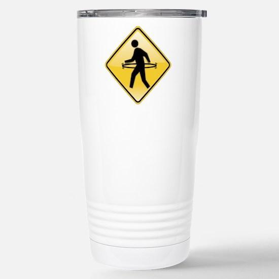 Pedestrian Hula-Hoop Stainless Steel Travel Mug