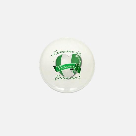 Nigeria Flag Design Mini Button