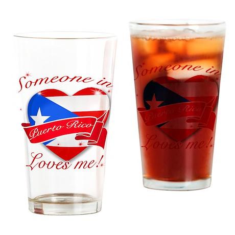 Puerto Rico Flag Design Drinking Glass