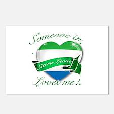 Sierra Leone Flag Design Postcards (Package of 8)
