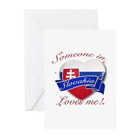 Slovakia Flag Design Greeting Cards (Pk of 10)