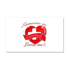 Switzerland Flag Design Car Magnet 20 x 12