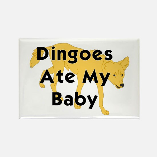 Cute Maybe dingo ate your baby Rectangle Magnet