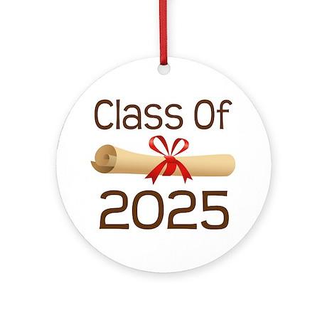 2025 School Class Diploma Ornament (Round)