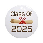 2025 School Class Diploma Ornament (Round)