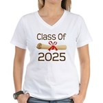 2025 School Class Diploma Women's V-Neck T-Shirt
