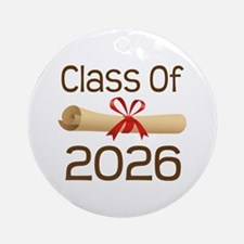 2026 School Class Diploma Ornament (Round)