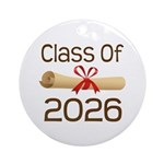 2026 School Class Diploma Ornament (Round)