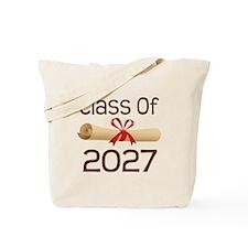 2027 School Class Diploma Tote Bag