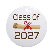 2027 School Class Diploma Ornament (Round)