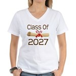 2027 School Class Diploma Women's V-Neck T-Shirt