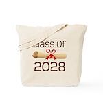 2028 School Class Diploma Tote Bag