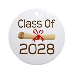 2028 School Class Diploma Ornament (Round)