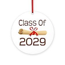 2029 School Class Diploma Ornament (Round)