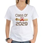 2029 School Class Diploma Women's V-Neck T-Shirt