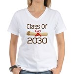 2030 School Class Diploma Women's V-Neck T-Shirt