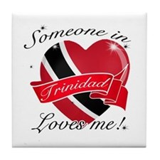 Trinidad Flag Design Tile Coaster