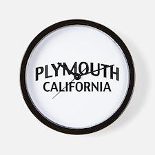 Plymouth California Wall Clock