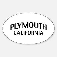 Plymouth California Sticker (Oval)