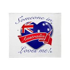 Australia Flag Design Throw Blanket