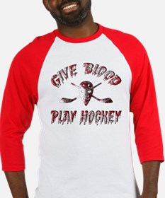 Give Blood Play Hockey Baseball Jersey