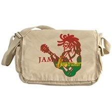 Jamaican Guitar Rasta Messenger Bag
