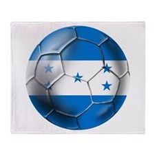 Honduras Football Throw Blanket