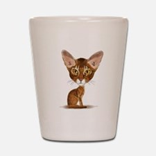 Aby Caricature Shot Glass