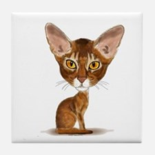 Aby Caricature Tile Coaster