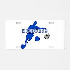 Honduras Soccer Player Aluminum License Plate