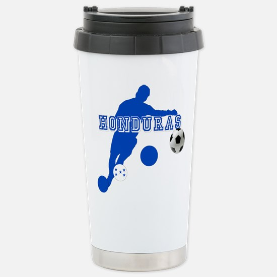 Honduras Soccer Player Stainless Steel Travel Mug